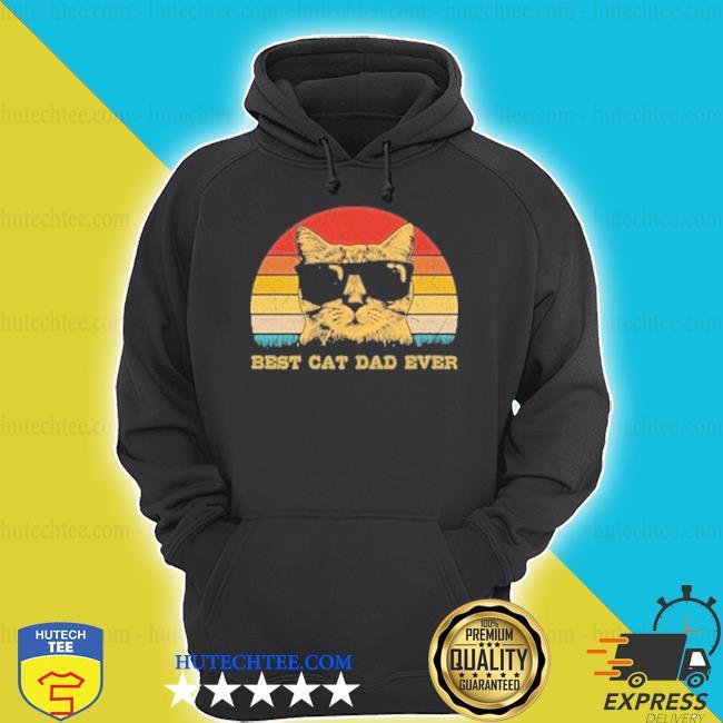 Best Cat dad ever vintage hoodie