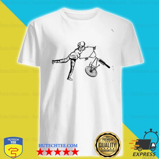 Bmx stunt skelett dirt bike freestyle fahrer geschenk new 2021 shirt