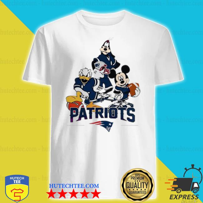 Disney characters mashup new england Patriots shirt