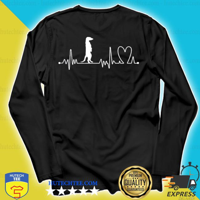 Heartbeat heart beat frequency ecg meerkat new 2021 s longsleeve