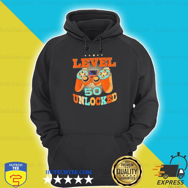 Level 50 unlocked video game 50 years old 50th birthday new 2021 shirt