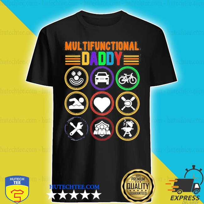 Mens multifunctional daddy dad fathers day 2021 s shirt