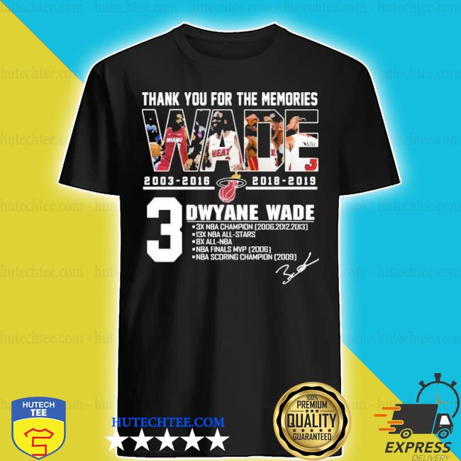 MiamI dwyane wade thank you for the memories new 2021 s shirt