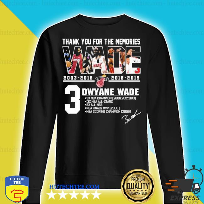 MiamI dwyane wade thank you for the memories new 2021 s sweater