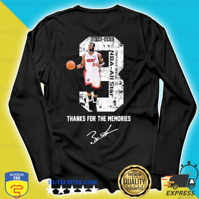 MiamI dwyane wade thank you for the memories signature new 2021 s longsleeve