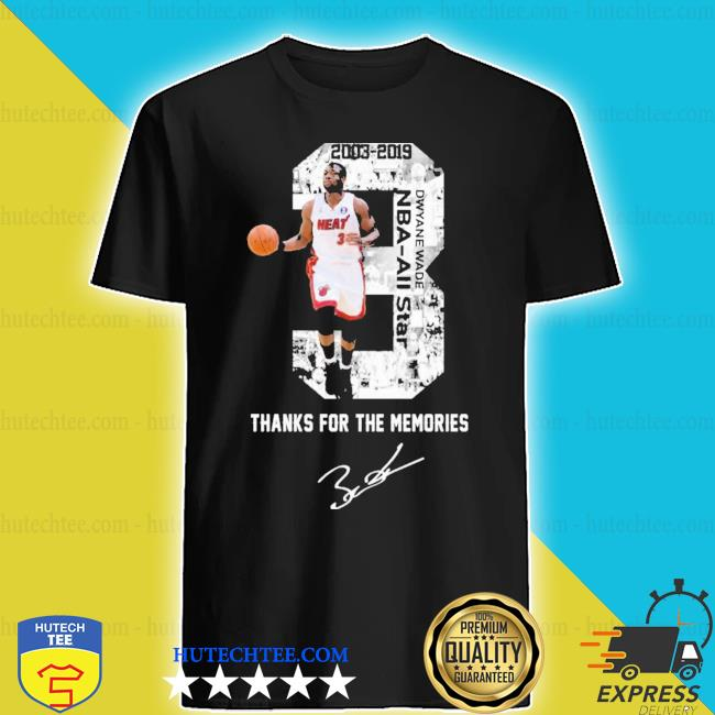 MiamI dwyane wade thank you for the memories signature new 2021 s shirt