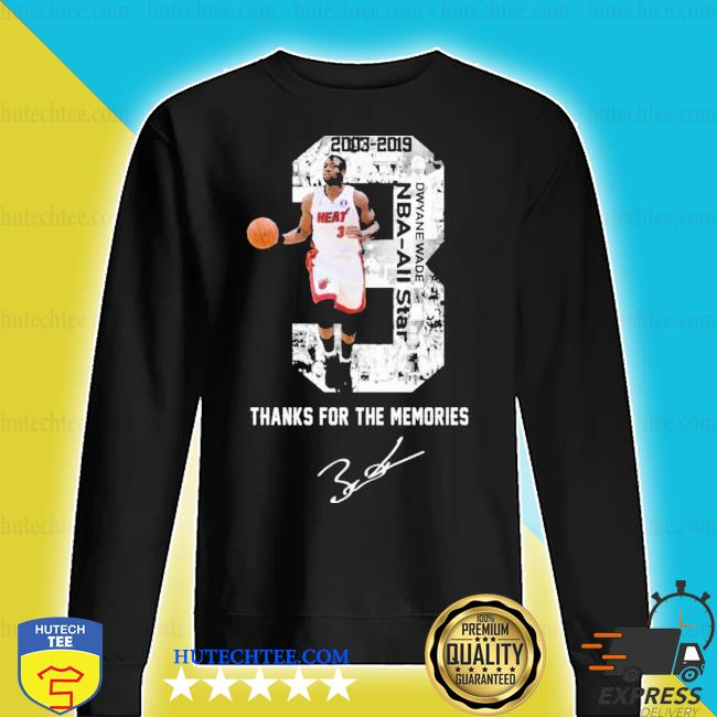 MiamI dwyane wade thank you for the memories signature new 2021 s sweater