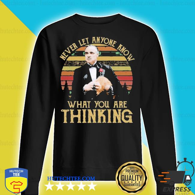 Michael corLeone never let anyone know what you are thinking s sweater