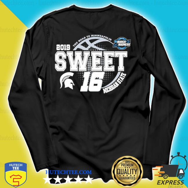 Michigan state spartans green 2019 ncaa sweet 16 new 2021 s longsleeve