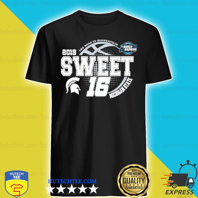 Michigan state spartans green 2019 ncaa sweet 16 new 2021 s shirt