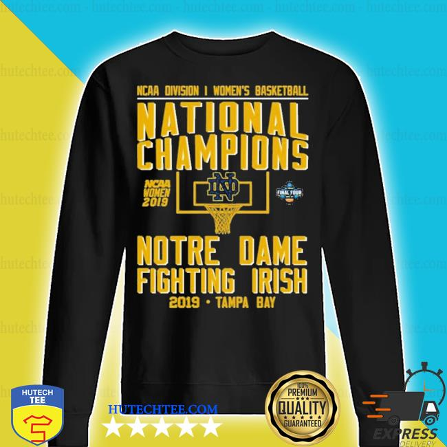 Ncaa women's basketball national 2019 champions notre dame tampa bay new 2021 s sweater