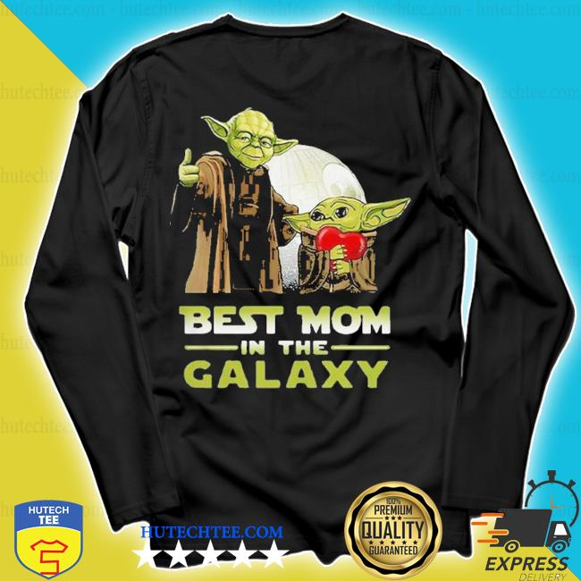 Nice master Yoda and baby Yoda best mom in the galaxy Star wars s longsleeve
