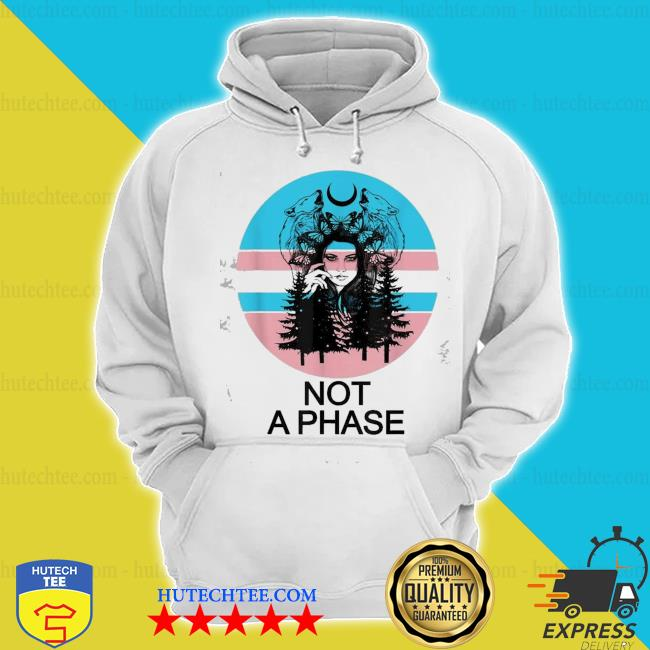 Pretty transgender pride not a phase trans butterfly moon s hoodie