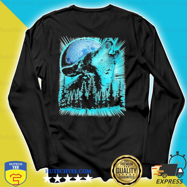 Psychedelic wolf howling at the moon for wolfs new 2021 s longsleeve