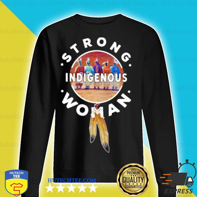 Strong indigenous woman s sweater
