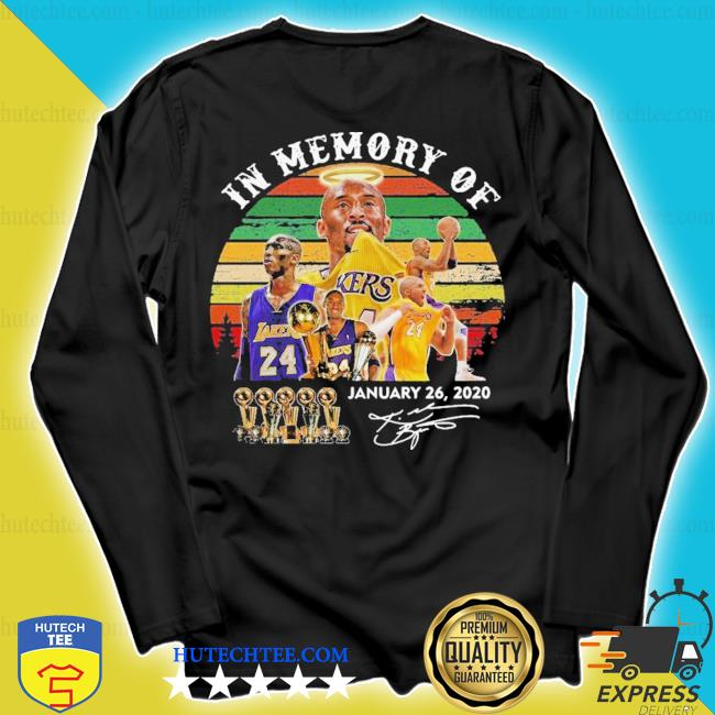 Top in memory of Kobe Bryant january 26 2020 signature vintage s longsleeve