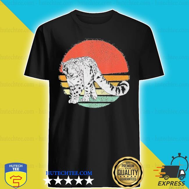 Vintage snow leopard retro snow leopards new 2021 s shirt