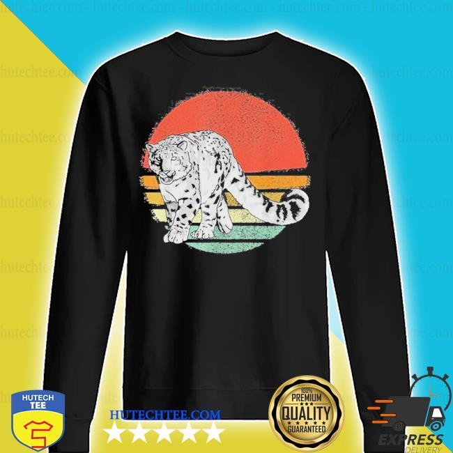 Vintage snow leopard retro snow leopards new 2021 s sweater