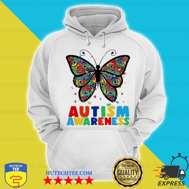 Autism awareness butterfly accept understand puzzle pieces s hoodie