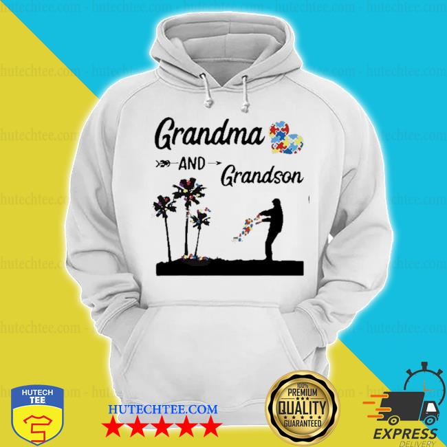Autism awareness grandma and grandson best friend for life s hoodie