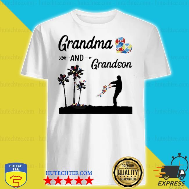 Autism awareness grandma and grandson best friend for life shirt