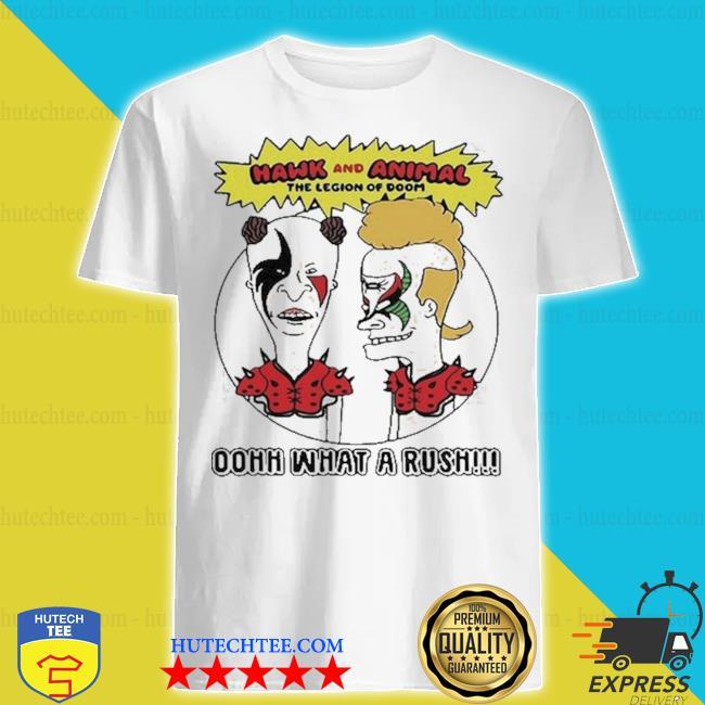 Beavis and butthead pro wrestling road warriors parody shirt