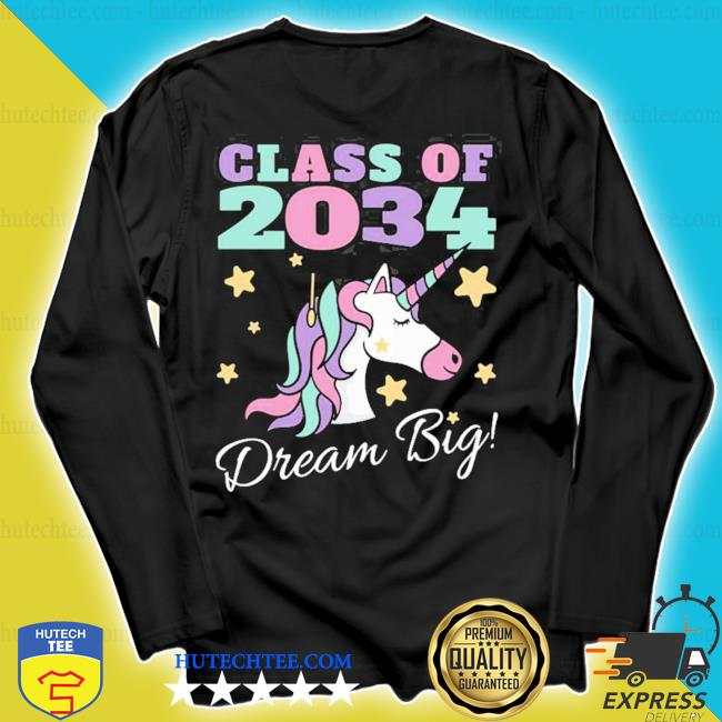 Girls class of 2034 grow with me magical unicorn hot s longsleeve
