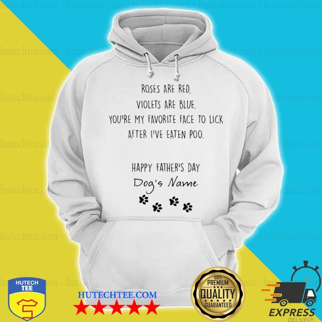 Happy fathers day dogs name custom s hoodie