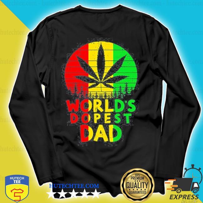 Weed worlds dopest dad vintage s longsleeve