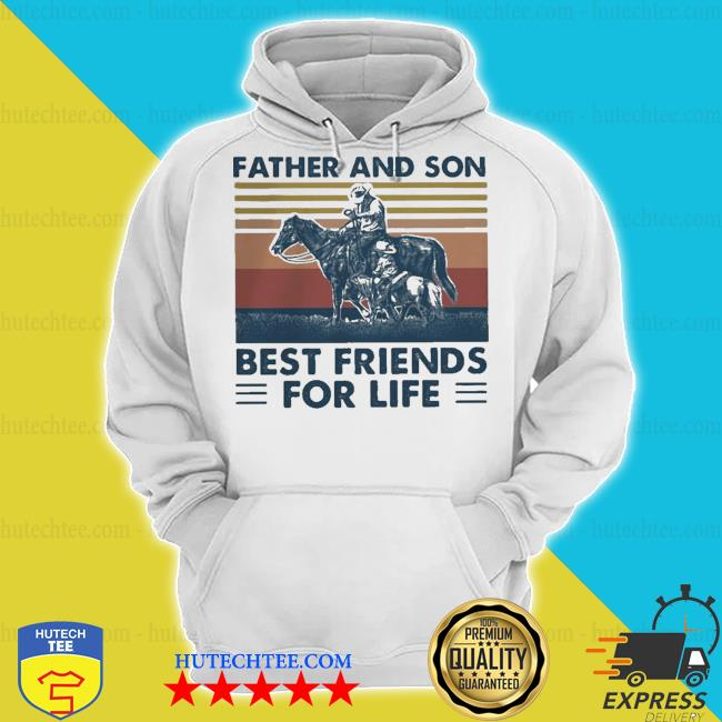 Horse father and son best friends for life vintage retro s hoodie