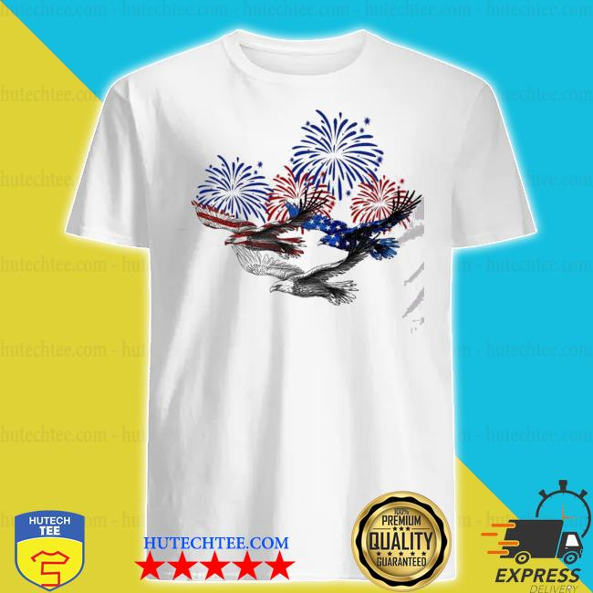 Eagle heart 4th of july shirt
