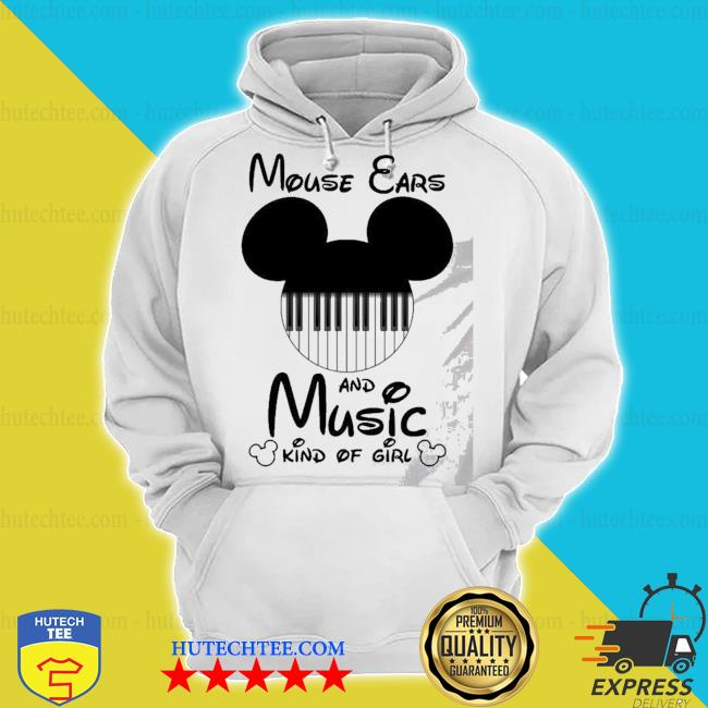 Mickey mouse ears and music kind of girl s hoodie