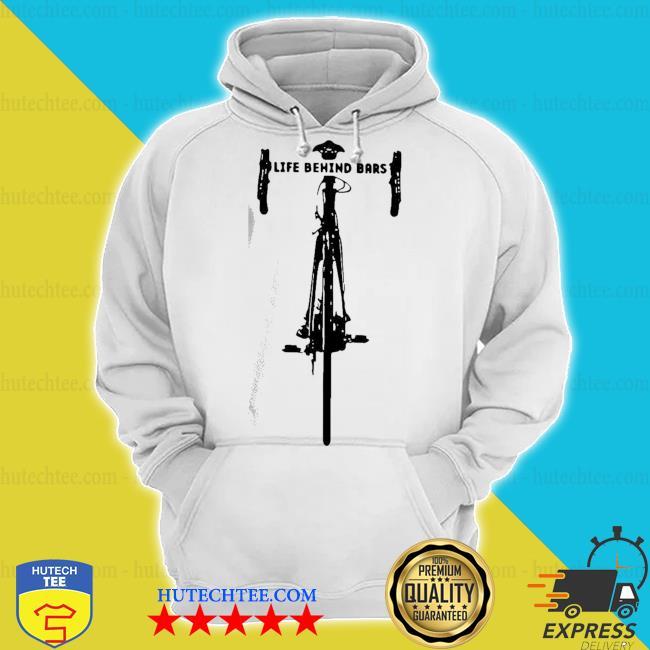 Nice bicycle life behind s hoodie