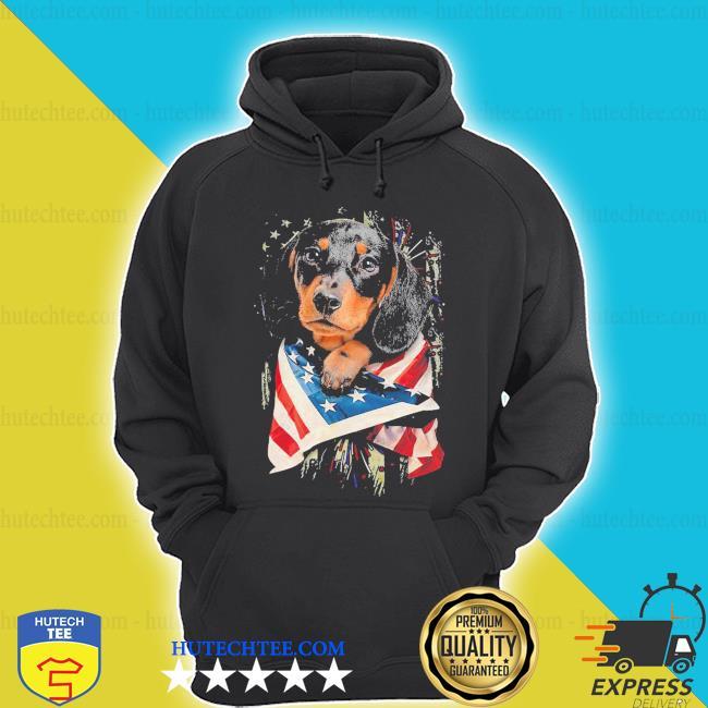 Dachshund lover American flag s hoodie