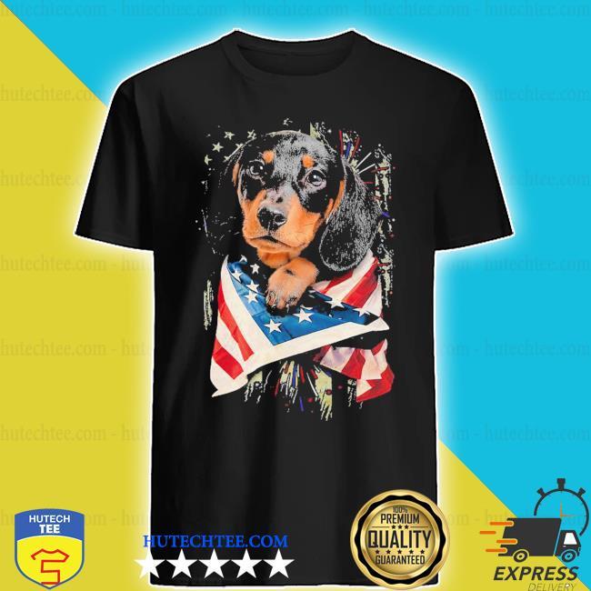 Dachshund lover American flag shirt