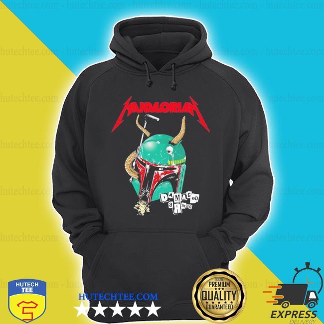 Nice Star wars metallica mandalorian damaged armor s hoodie