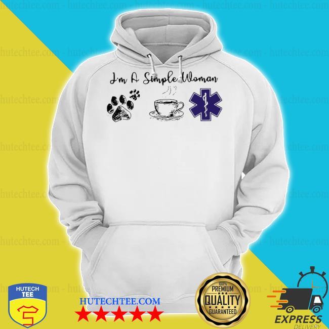 Pretty I'm a simple woman I like dog coffee and nurse s hoodie