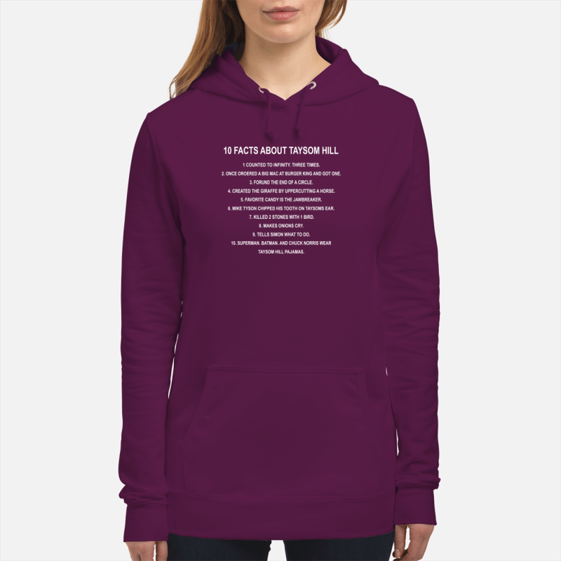 10 facts about taysom hill shirt unisex hoodie