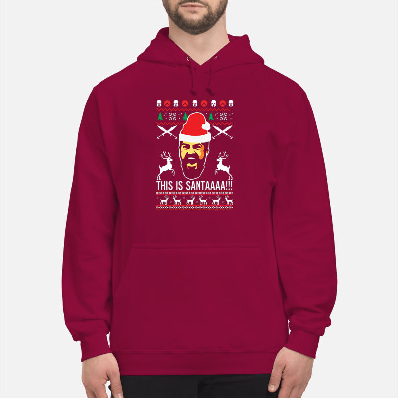 300 rise of an empire This is Santaaa ugly Christmas sweater unisex hoodie