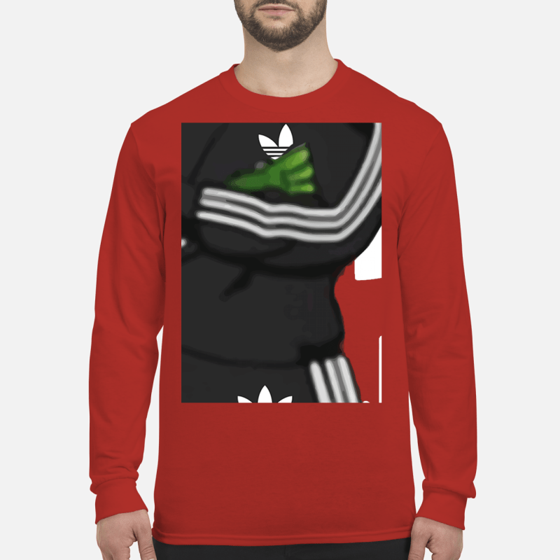 Adidas Grinch santa shirt long leeved