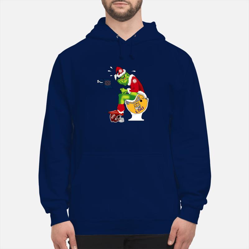 Alabama Grinch Santa Toilet shirt unisex hoodie