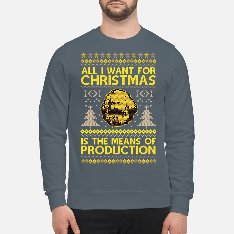 All I want for christmas is the means of production sweatershirt