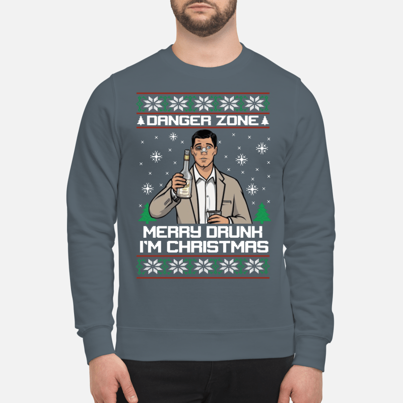 Archer danger zone merry drunk I'm Christmas sweater, hoodie