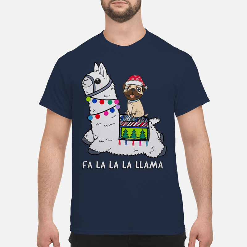 Baby Pug and Fa la la la llama christmas sweater