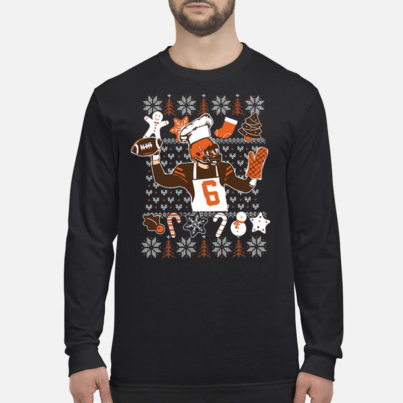 Baker Mayfield ugly Christmas shirt long sleeved