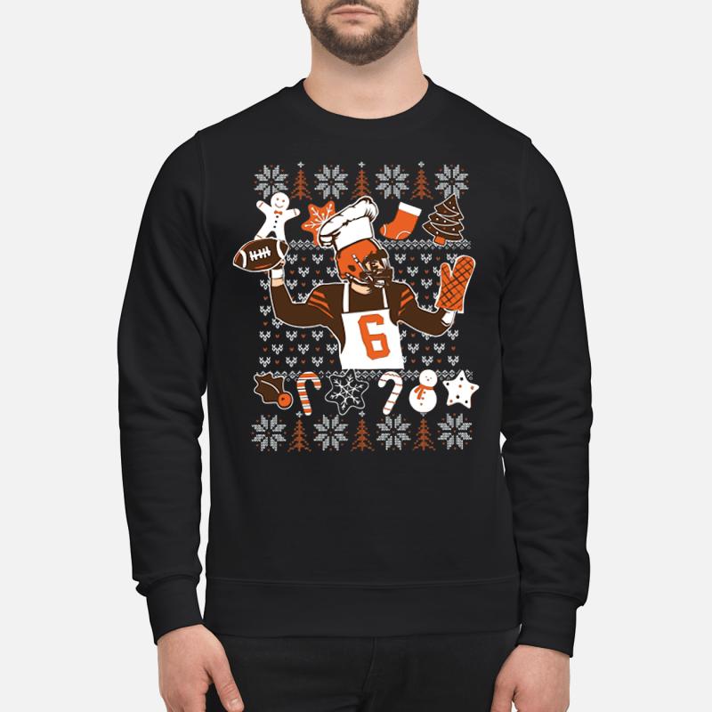 Baker Mayfield ugly Christmas sweartshirt
