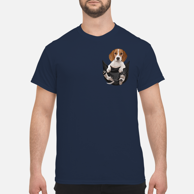 Beagle In Pocket Shirt Hoodie Sweater