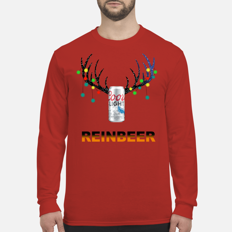 Christmas ReinBeer Coors Light Shirt long sleeved