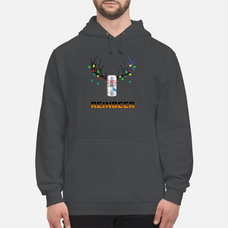 Christmas ReinBeer Coors Light Shirt unisex hoodie