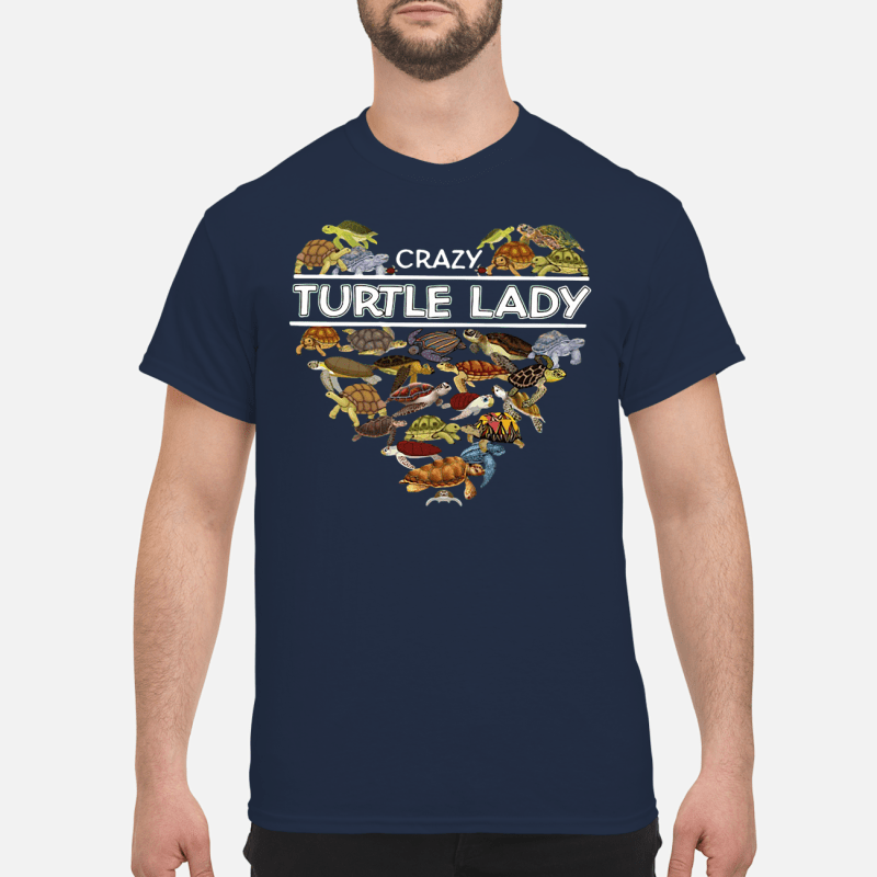 Crazy turtle lady shirt